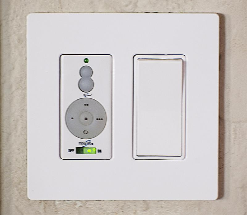 Ceiling fan and light remote control switch